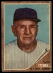 1962 Topps #29  Casey Stengel  Front Thumbnail