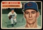 1956 Topps #102 GRY Jim Davis  Front Thumbnail