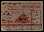 1958 Topps #235  Tom Gorman  Back Thumbnail