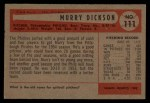 1954 Bowman #111  Murry Dickson  Back Thumbnail