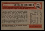 1954 Bowman #200  Connie Marrero  Back Thumbnail