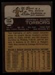 1973 Topps #154  Jeff Torborg  Back Thumbnail