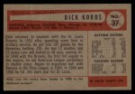 1954 Bowman #37  Dick Kokos  Back Thumbnail