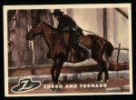 1958 Topps Zorro #84   Zorro And Torando Front Thumbnail