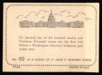 1964 Topps JFK #62   JFK tosses Out The First Ball Back Thumbnail