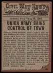 1962 Topps Civil War News #44   Shot to Death Back Thumbnail