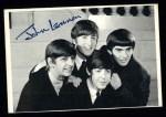 1964 Topps Beatles Black and White #77  John Lennon  Front Thumbnail