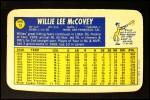 1970 Topps Super #13  Willie McCovey  Back Thumbnail