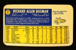 1970 Topps Super #22  Dick Bosman  Back Thumbnail