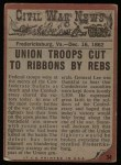 1962 Topps Civil War News #34   Wall of Corpses Back Thumbnail