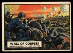 1962 Topps Civil War News #34   Wall of Corpses Front Thumbnail