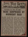 1962 Topps Civil War News #36   Midnight Raid Back Thumbnail