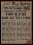 1962 Topps Civil War News #70   The Sniper Back Thumbnail