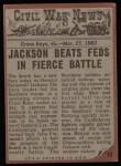 1962 Topps Civil War News #13   Dying Effort Back Thumbnail