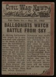 1962 Topps Civil War News #23   Crushed by Wheels Back Thumbnail