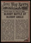 1962 Topps Civil War News #64   Jaws of Death Back Thumbnail