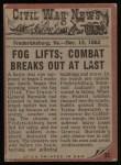 1962 Topps Civil War News #33   Fight for Survival Back Thumbnail