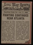 1962 Topps Civil War News #72   The Cannon's Victim Back Thumbnail