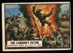 1962 Topps Civil War News #72   The Cannon's Victim Front Thumbnail