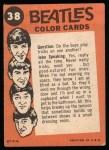 1964 Topps Beatles Color #38   Paul McCartney Back Thumbnail