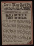 1962 Topps Civil War News #42   The Battle Continues Back Thumbnail