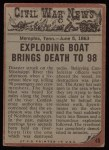 1962 Topps Civil War News #45   The Riverboat Explodes Back Thumbnail