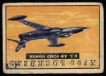 1952 Topps Wings #152   XF 90 Lockheed Front Thumbnail