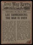 1962 Topps Civil War News #87   The War Ends Back Thumbnail