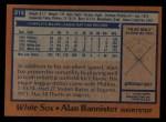 1978 Topps #213  Alan Bannister  Back Thumbnail