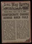 1962 Topps Civil War News #35   Gasping for Air Back Thumbnail