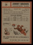 1962 Topps #28  Jim Brown  Back Thumbnail