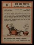 1962 Topps #30  Jim Ray Smith  Back Thumbnail