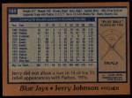 1978 Topps #169  Jerry Johnson  Back Thumbnail