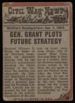 1962 Topps Civil War News #38   General Grant Back Thumbnail