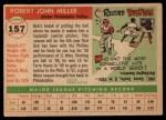 1955 Topps #157  Bob Miller  Back Thumbnail