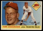 1955 Topps #167  Tom Casagrande  Front Thumbnail