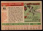1955 Topps #92  Don Zimmer  Back Thumbnail