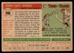 1955 Topps #98  John Riddle  Back Thumbnail