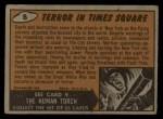 1962 Mars Attacks #8   Terror in Times Square  Back Thumbnail