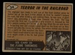 1962 Mars Attacks #34   Terror in the Railroad  Back Thumbnail