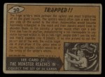 1962 Topps / Bubbles Inc Mars Attacks #30   Trapped Back Thumbnail