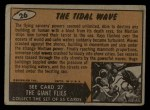 1962 Mars Attacks #26   The Tidal Wave  Back Thumbnail