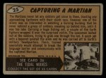 1962 Topps / Bubbles Inc Mars Attacks #25   Capturing Martian  Back Thumbnail