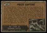 1962 Topps / Bubbles Inc Mars Attacks #21   Prize Captive  Back Thumbnail
