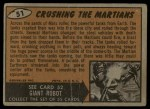 1962 Topps / Bubbles Inc Mars Attacks #51   Crushing the Martians  Back Thumbnail