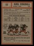 1962 Topps #53  Gail Cogdill  Back Thumbnail
