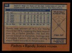 1978 Topps #56  Randy Jones  Back Thumbnail