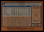 1978 Topps #53  Phil Garner  Back Thumbnail