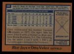 1978 Topps #59  Otto Velez  Back Thumbnail