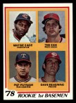 1978 Topps #706   -  Wayne Cage / Ted Cox / Pat Putnam / Dave Revering Rookie 1st Basemen   Front Thumbnail